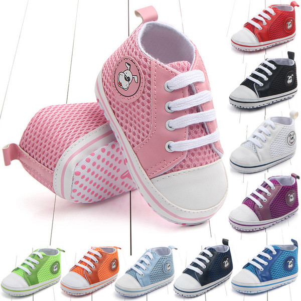New Baby Breathable Shoes Canvas Shoes Sports Sneakers Newborn Baby Boys Girls Infant Toddler Soft Sole Anti-slip