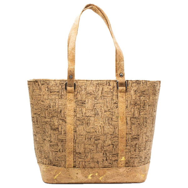 Cork bags cork handbag for women natural strip vegan handmade Original fashion handbag BAG-318-B