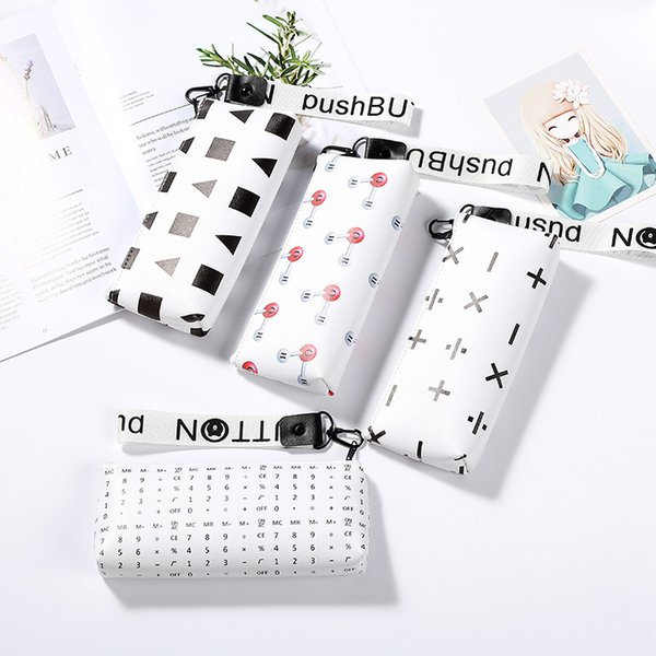 New Zipper Pencil Bag PU Pen Pouch Waterproof Stationery School Supplies Creativity Student Fashion Pencil Holder Cheap Price