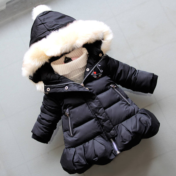 Winter Down Parkas Newnorn Baby Fashion Thick Warm Outerwear For Bebe Girls Toddler Coats Snow Wear