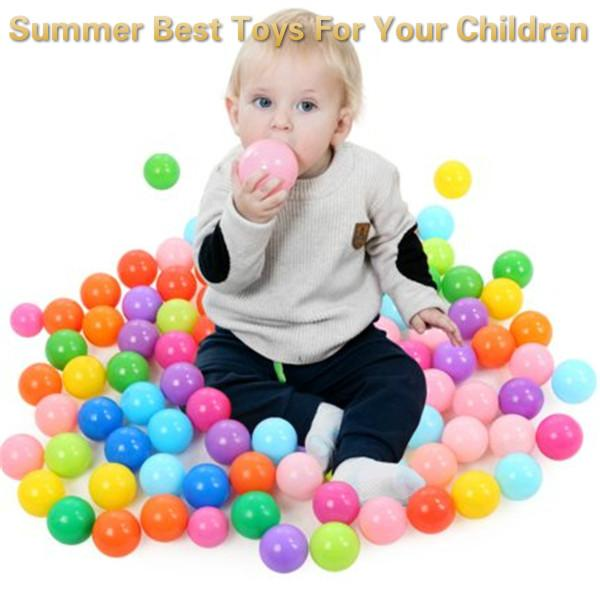 100Pcs Colorful Ball Ocean Balls Soft Plastic Ocean Ball Baby Kid Swim Pit Toy High Quality With Storage bag 5.5CM = 2.17 Inch