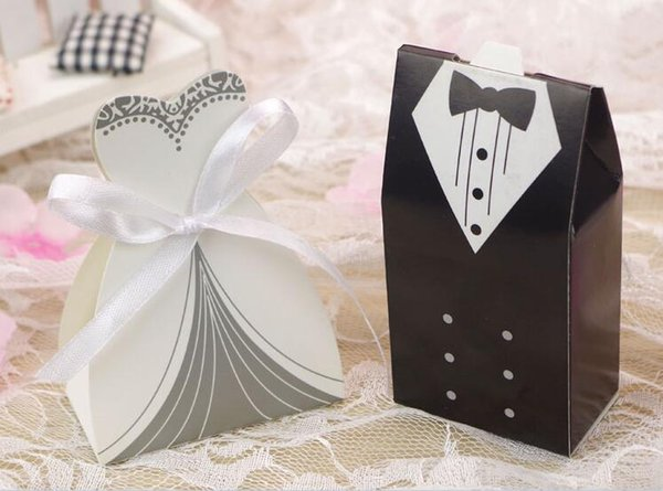Free Shipping+New Arrival bride and groom box wedding boxes favour boxes wedding favors,50pairs=100pcs/lot