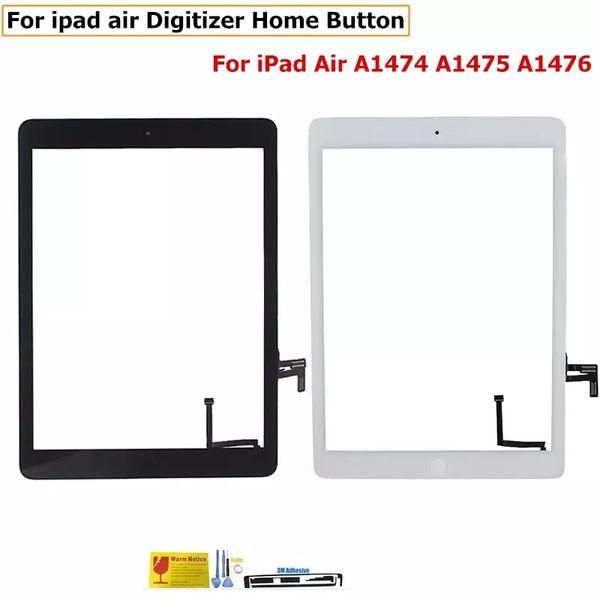 Nuovo Front Glass per iPad 2 3 4 5 Air Mini 1 23 Touch Screen Digitizer Flex Cable Home Button Assembly con adesivo