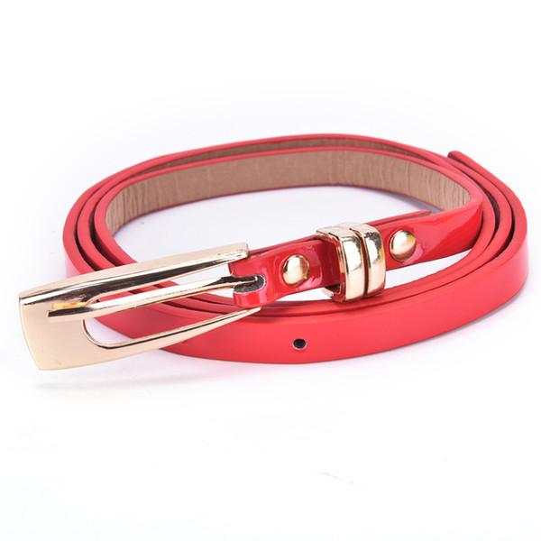 1PC Women's Elegant 103cm Belt Metal Buckle Brand Female PU Leather Thin Belt Woman Waistband Girdle Cummerbunds Waist Belts