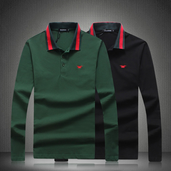 Designer  Shirts 2018 New Men Breathable Classic Solid Smart Brand Long Sleeves Shirts Black Green Plus Size 4XL 5XL 81834