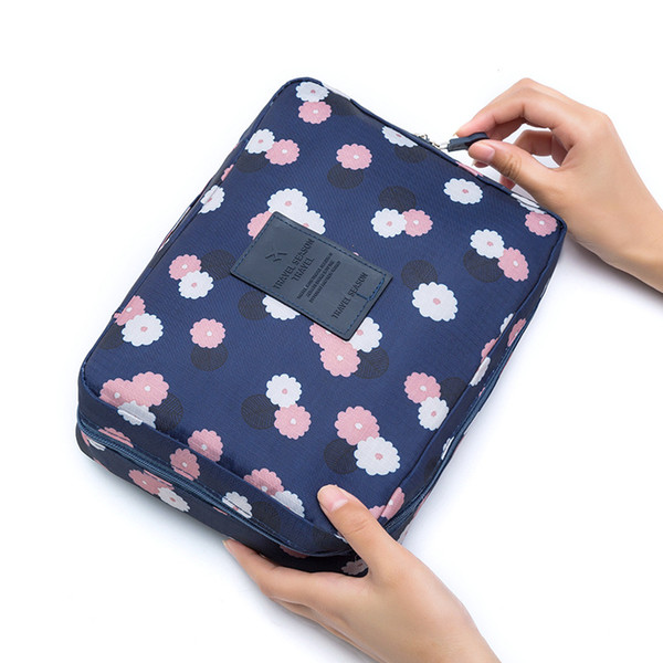 Nice Portable Cute Waterproof Big Capacity Oxford Cloth Tote Mulit-use Cosmetic Makeup Bag Travel Bag With Double Zipper