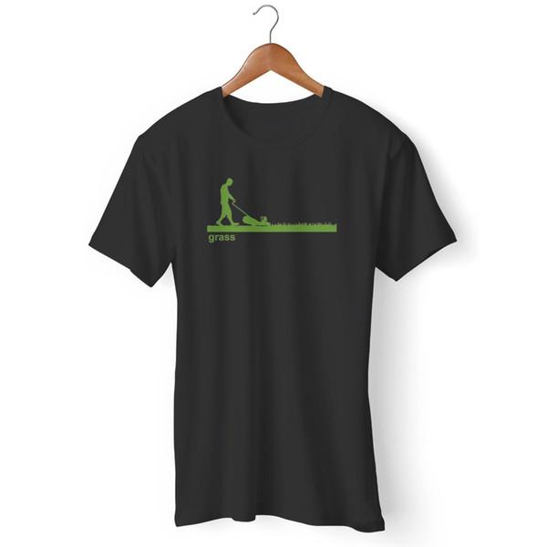 Çim Çim Biçme Makinesi Komik adamın / kadının T-Shirt Komik ücretsiz kargo Unisex Rahat tee hediye