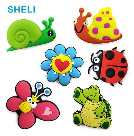 Butterfly Snail silicone fridge magnets Cartoon animal whiteboard sticker Refrigerator Magnets Kids Message post Home Decoration