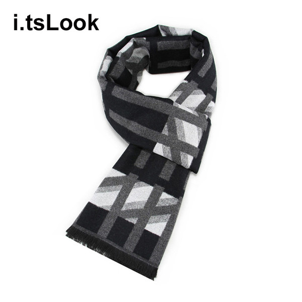 Men Business Silk Scarf teenage Color Contract Mufflers Casual Men's Scarves for Male Winter Shawl sjaal szalik