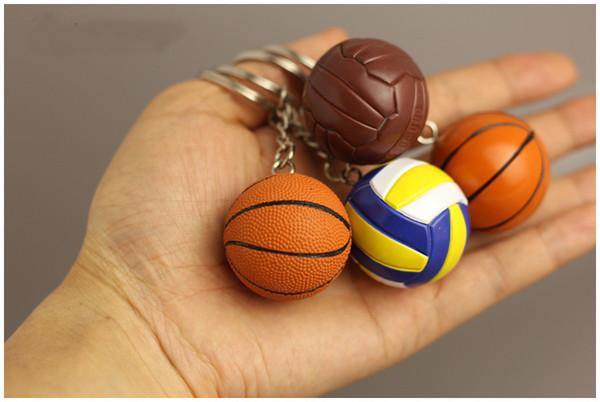 Free DHL Small Basketball Pendant Keychain Sports Key Chains Souvenir Gift Bag Car Hanging Keyring Women Men Fashion Accessories G260Q F