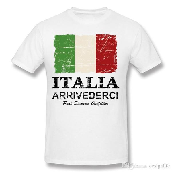 Nueva camiseta de la bandera de Italia de la vendimia de Homme 100% algodón  Camiseta 054013bc9a882