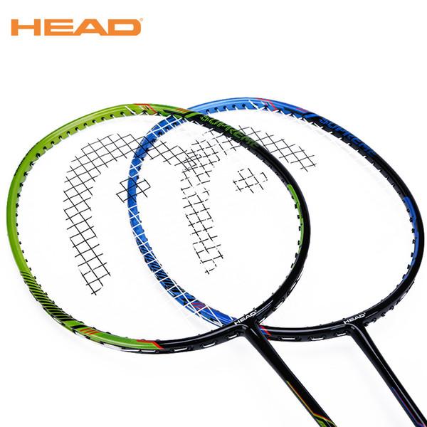 2 piezas HEAD raquetas de bádminton Carbon Light Badminton Racquet Sports de alta calidad con strung para pareja SM700