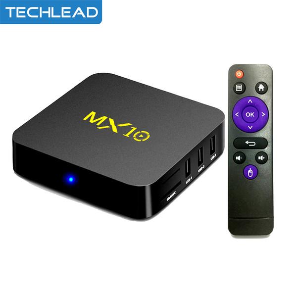 MX10 Smart TV Box 4GB RAM Android 9.0 Rockchip RK3328 Quad Core 4K WIFI Media Player 2.4Ghz 100M Lan Network TV Receiver USB3.0 HDR