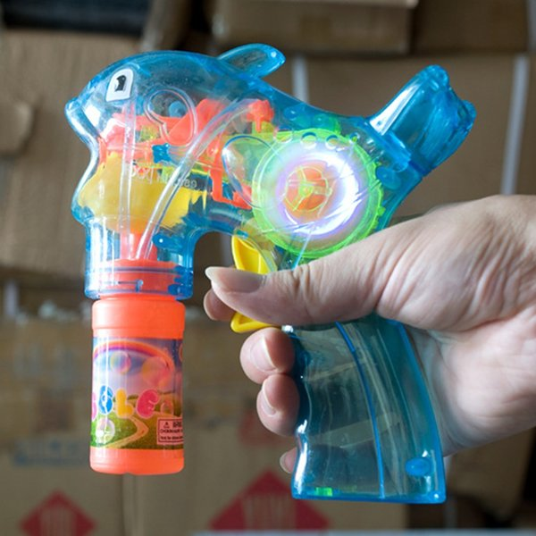 2018 New Electric Dolphin Bubble Gun Music Light Blowing Bubbles+Bubble Water Gun Belt Sword Set Children Kids Outdoor Toys Hot