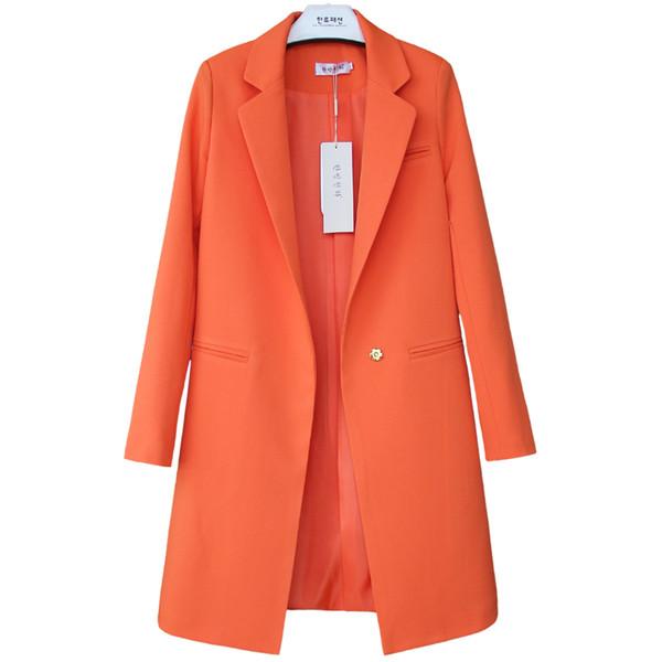 2017Ladies Blazer Amarillo Feminino SizeS-3XL Chaqueta formal de las mujeres Blanco Blaser Rosa Mujer Azul Mujer Traje Señoras Oficina L18101303