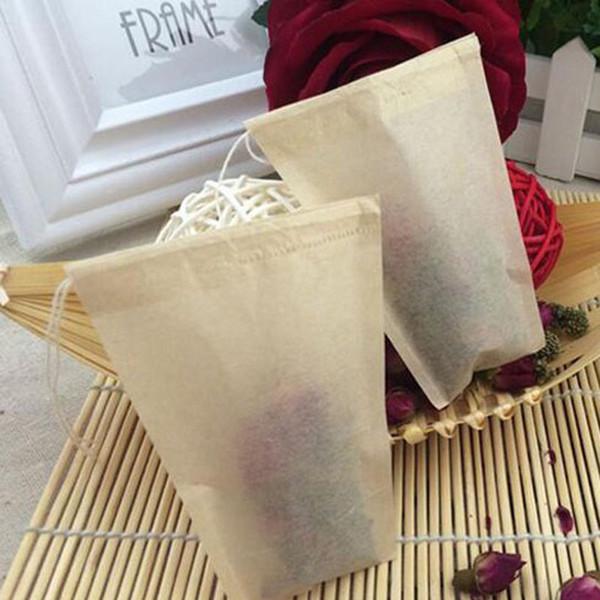 best selling 8*10cm Unbleached Tea Filters Teabags Wood Pulp Filter Paper Single Drawstring Tea Bag Home Office Tea Tool ZA5677