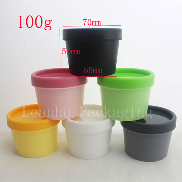 100g X 50 wide mouth empty cosmetic cream containers round colored plastic tin jars for cream 3.5oz makeup cosmetics jars pot