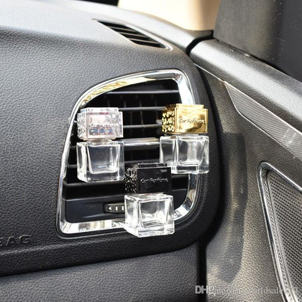 Car Ornament Decoration Perfume Empty Bottle Vents Clip Auto Air Freshener Automobiles Air Conditioner Outlet Fragrance Smell Diffuser