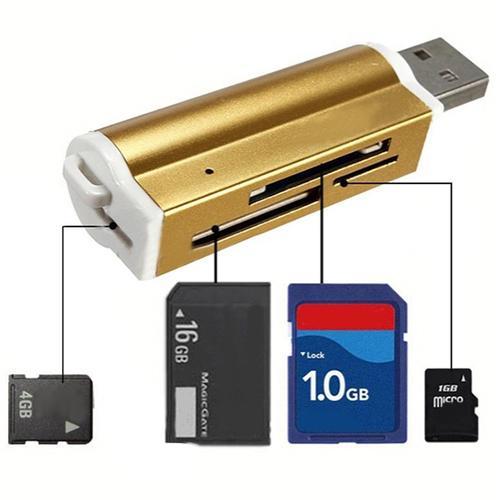 Multi Alle in 1 Micro USB 2.0 Speicherkartenleser Adapter für Micro SD SDHC TF M2 MMC MS PRO DUO Kartenleser