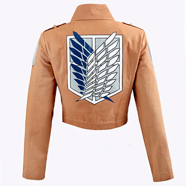 attack on Attack on Titan Jacket Shingeki no Kyojin Legion Coat Cosplay Eren Levi Jacket Plus Size Free shipping Halloween Costume