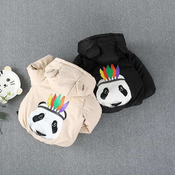 Children Warm Winter Baby Boys Infants Kids Cartoon Hooded Velvet Thicken Parkas Cardigan Jacket Coat Outwear Casacos