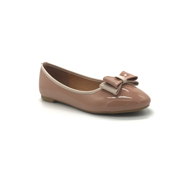 Patent leather dress shoes Women Casual Leather shoes with bow tie Top quality wholesale made in China