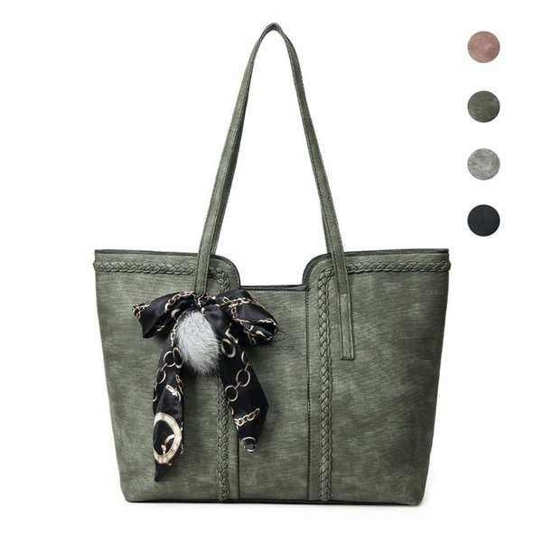 MLHJ Brand Fashion Casual Large Capacity Women Bag Shoulder Bag for Women Hand Tote PU Leather ladies Women's Handbags girl