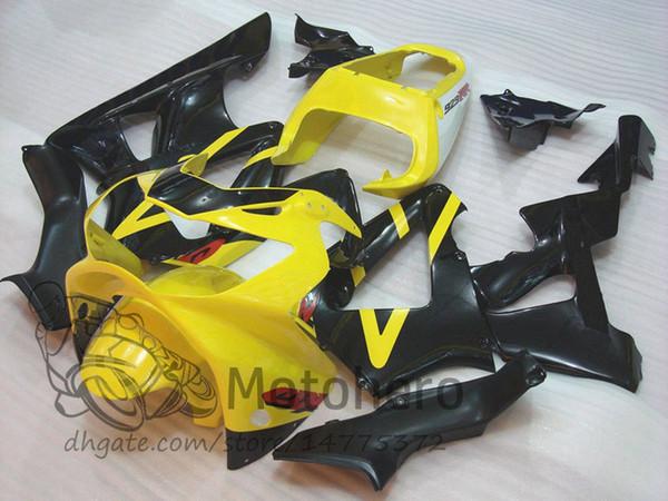 High Quality ABS Yellow Black Plastic Fit For Honda CBR 929 900 RR 929RR 00 01 900 2000 2001 CBR900RR Motorcycle Fairing Kit Bodywork D4231