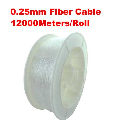 0.25mm diameter 12000m/roll PMMA fiber optic cable end glow for decoration lighting led fiber lights