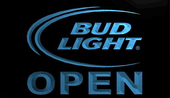 LS712-b-Bud-Light-Beer-OPEN-Bar-Neon-Light-Sign Decor Free Shipping Dropshipping Wholesale 8 colors to choose