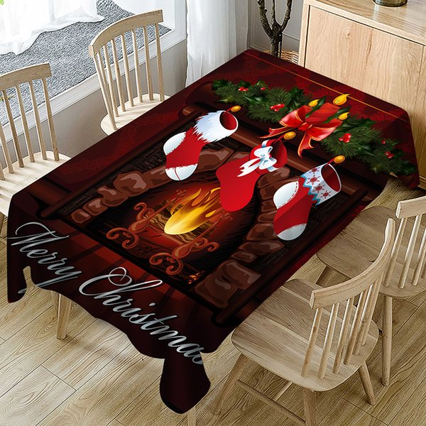 High Quality Merry Christmas Tablecloth Square /Rectangular Tablecloth For Wedding Table Cloth Cover TV Covers Tea Tablecloth