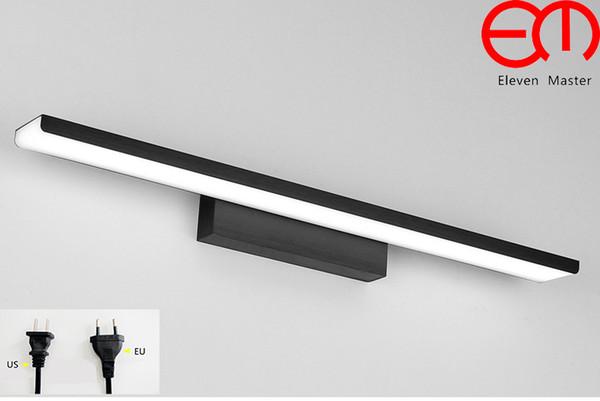 16w Aluminio Apliques de pared Moderno L/ámpara de ba/ño Para Dormitorio Cuarto de ba/ño-41cm Luz blanca LED Negro L/ámpara de espejo