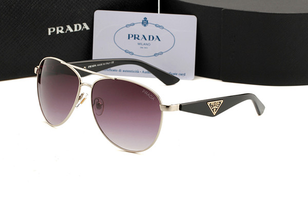 5068 new metal sunglasses with twin liang sunglasses for wind protection and sun protection