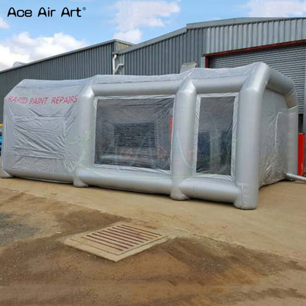 2019 Mobile Workstation Inflatable Spray Booth,Garage Painting  Room,Inflated Outdoor Paint Workshouse Tent With Removable Zipper Door For  Rental From