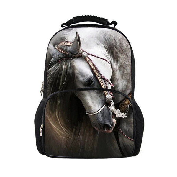 wholesale horse backpacks for teens school bag, school backpack feminine women backpacks for children girls kids back pack