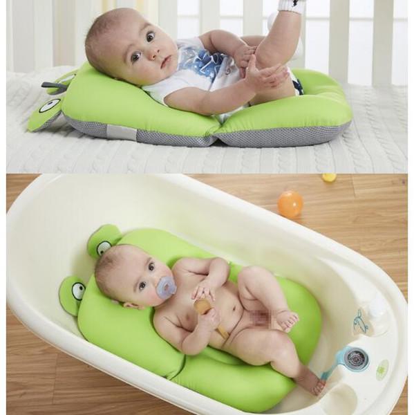 Hot Faltbare Neugeborenen Baby Bad Kissen Bett Dusche Rutschfeste Badewanne Mat