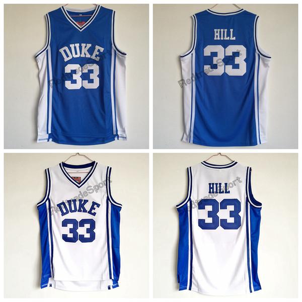 on sale f3de3 6ca7c 2019 Mens Vintage Duke Blue Devils 33 Grant Hill College Basketball Jersey  Cheap V Blue Grant Hill Stitched Basketball Shirts From Redtradesport, ...