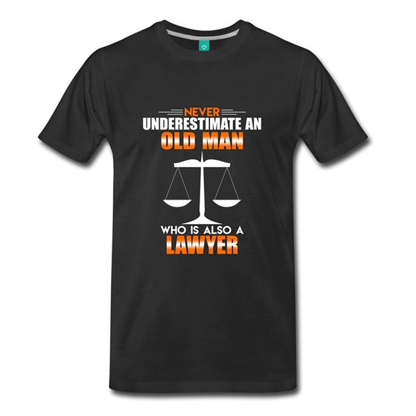 Never Underestimate A Lawyer Funny Slogan Men's Wholesale Discount T-shirt Harajuku Funny Men Tee Shirts Summer New Men Cotton T Shirt