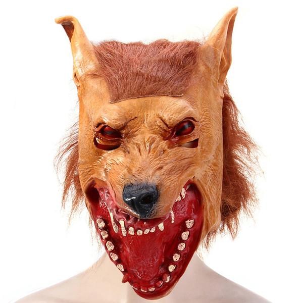 Máscara de látex Artificial de látex cabeça Halloween masquerade desempenho partido Natal Cosplay Gadget Stage propriedade.