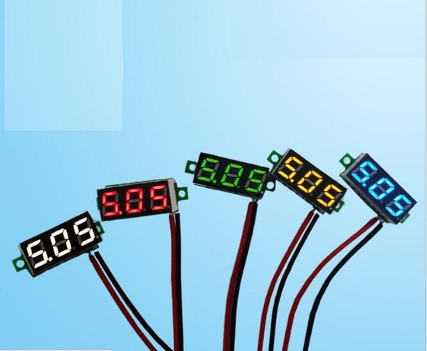 Two Wire 0.28 Inch Red Blue Digital LED Mini Display Module DC 2.5V Car Voltmeter Wiring on