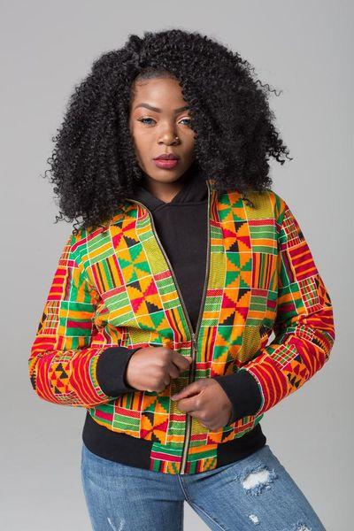 DARSJUCBD 2018 Autunno New Sexy Indie Folk Donne Giacca Cappotto Dashiki Africano Stampato Cerniera Giacca Bomber Cappotto di Alta Qualità