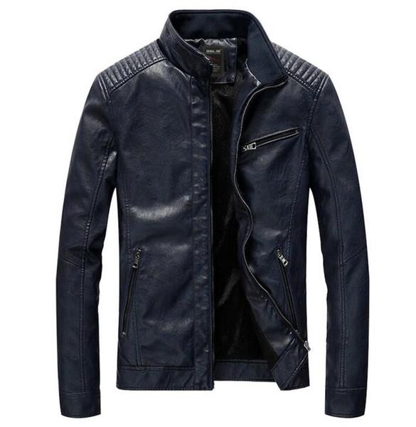 Spring Autumn New PU Leather jacket Men's Leisure Leather Jacket Washed Thin Motorcycle Leather Jacket Coat Size M-5XL