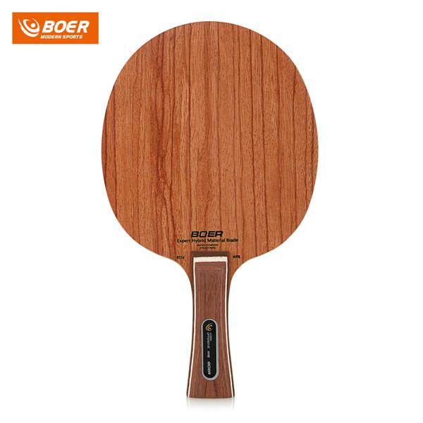 Raquete De Tênis De Mesa Profissional BOER Raquete de Madeira Raquete BatPong Punho Defensivo Com Aperto Horizontal, Aperto Em Linha Reta