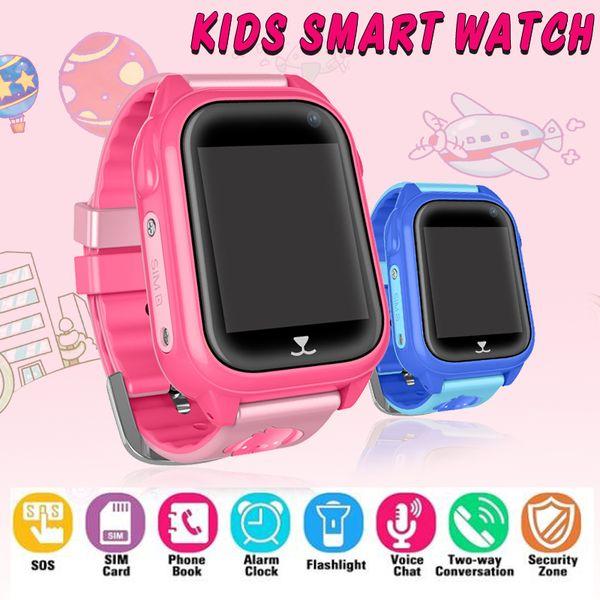 M06 Inteligente GPS Criança Assista À Prova D 'Água Telefone IP67 Posicionamento GPS Tracker 1.44' Tela Sensível Ao Toque de Cor SOS Relógio Inteligente Do Bebê VSQ90