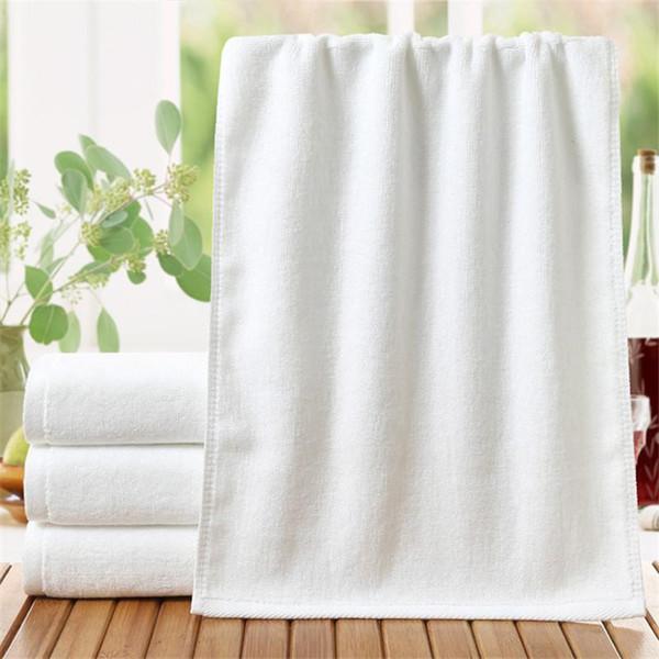 5PCS/Lot Cotton Hotel Towels White Hand/Face Towel for Spa Beauty Salon Kitchen Dish Towels Home Textile