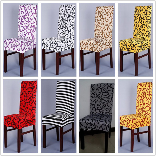 Sensational Sure Fit Soft Stretch Spandex Pattern Chair Covers For Kitchen Chair Short Dining Chair Cover Purple Grey Champagne Nz 2019 From Bananain Nz 20 94 Theyellowbook Wood Chair Design Ideas Theyellowbookinfo