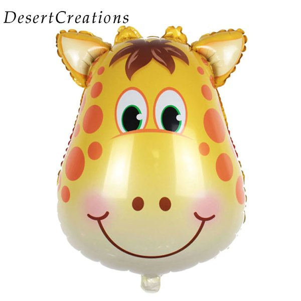 Animals Giraffe Monkey Zebra Foil Balloons Cartoon Aluminum Helium Balloon Birthday Decoration Toys Gift