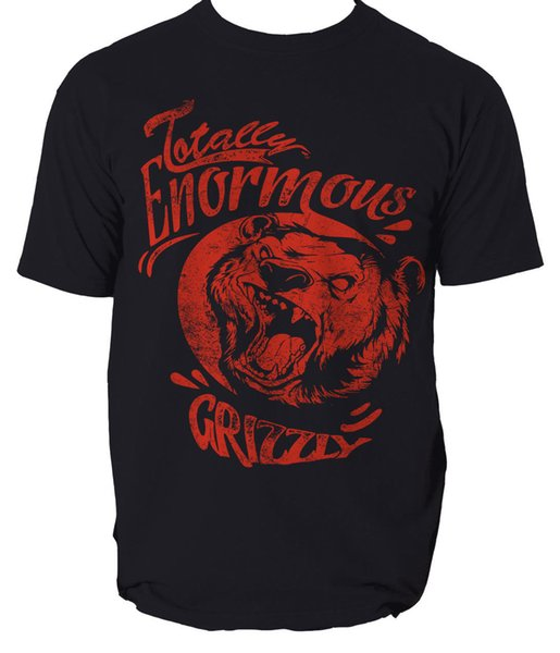 GRIZZLY T SHIRT TOTALLY ENORMOUS GRIZZLY ANIMAL mens t-shirt tee 2018 hot tees custom printed tshirt free shipping cheap tee