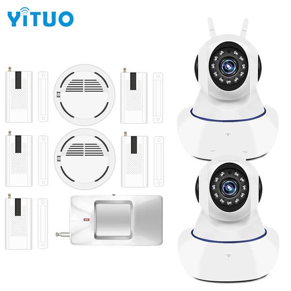 Охранная сигнализация WI-FI Ip-камера ночного видения с беспроводным датчиком двери Детектор сигнализации Дома Сигнализация YITUO