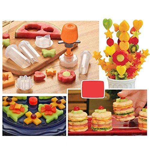 New Creative Plastic Cake Cookie Vegetable Fruit Shape Cutter Slicer Veggie Mold Set DIY Decorating Tools